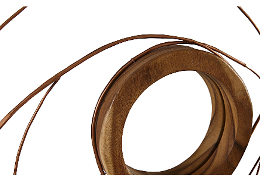 Picture of NEST MIRROR CHAMCHA WOOD/WIRE, COPPER, SM