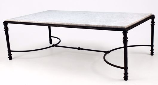 Picture of CHANDLER IRON & GLASS TABLE