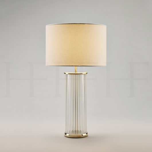 Picture of CLEAR RIBBED GLASS TABLE LAMP