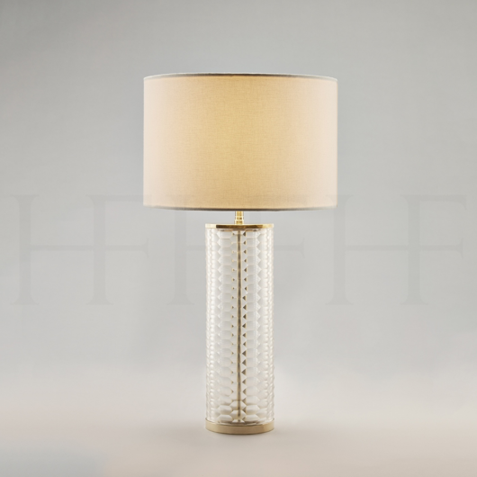 Picture of CLEAR HONEYCOMB GLASS TABLE LAMP