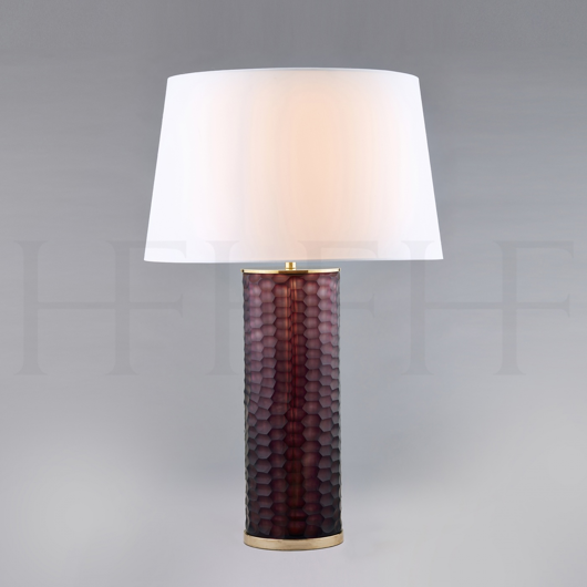 Picture of AMETHYST HONEYCOMB GLASS TABLE LAMP
