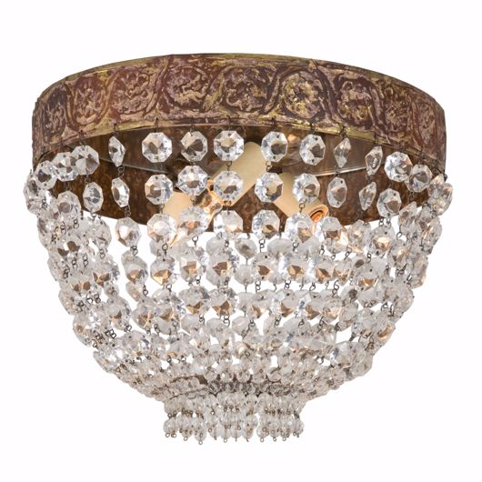 Picture of IRON & CRYSTAL CEILING FIXTURE