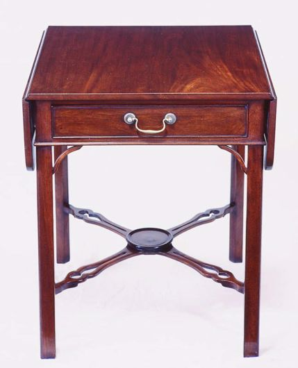Picture of CHIPPENDALE STYLE MAHOGANY DROP LEAF TABLE