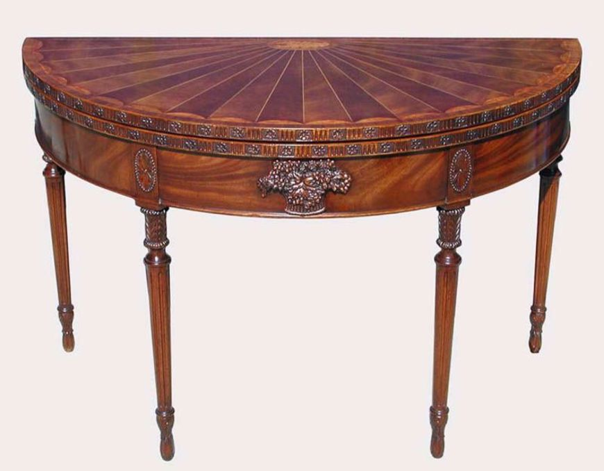 Picture of AMERICAN FEDERAL CARVED AND INLAID MAHOGANY GAME TABLE