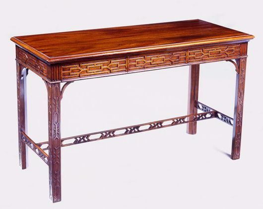 Picture of CHIPPENDALE STYLE MAHOGANY SOFA TABLE