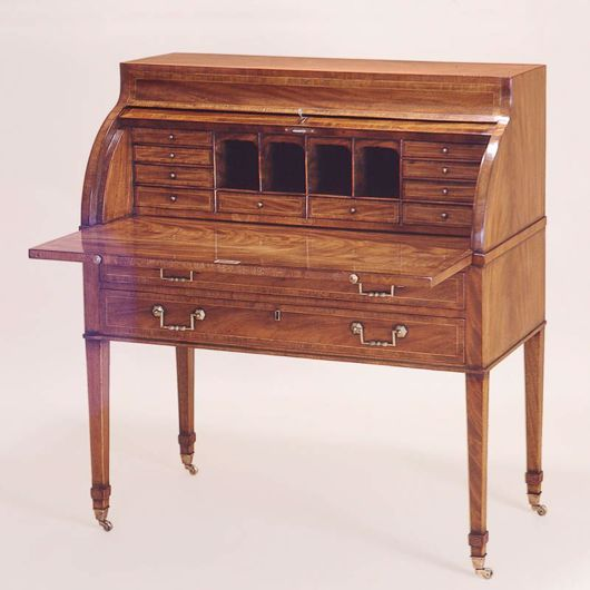 Picture of GEORGIAN STYLE MAHOGANY CYLINDER DESK