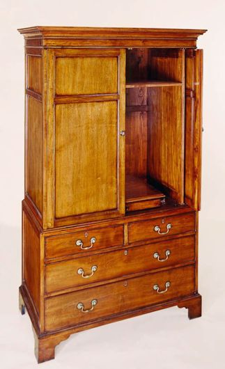 Picture of GEORGE III STYLE MAPLE TV CABINET