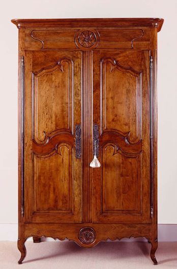 Picture of FRENCH PROVINCIAL STYLE FRUIT-WOOD ARMOIRE