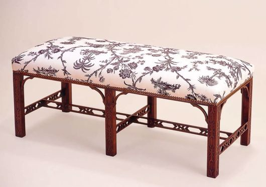 Picture of CHIPPENDALE STYLE MAHOGANY BENCH