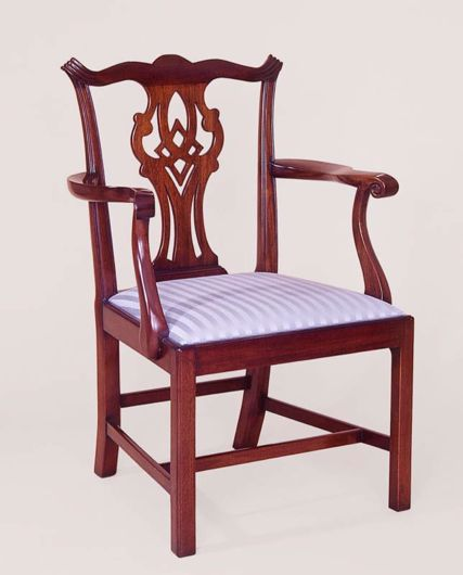 Picture of CHIPPENDALE STYLE MAHOGANY DINING CHAIR