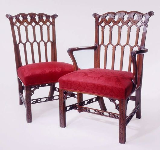 Picture of CHINESE CHIPPENDALE STYLE MAHOGANY DINING CHAIR