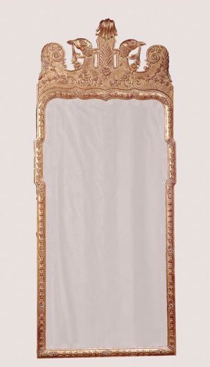 Picture of GEORGE I STYLE WOOD CARVED AND GILDED MIRROR