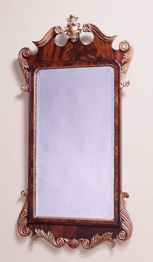 Picture of GEORGE III STYLE MAHOGANY AND GILTWOOD MIRROR