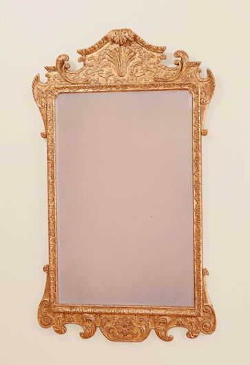 Picture of GEORGE II STYLE WOOD CARVED AND GILDED MIRROR