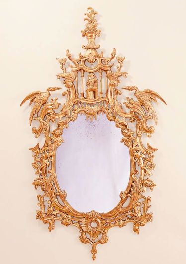 Picture of CHINESE CHIPPENDALE STYLE GILTWOOD MIRROR