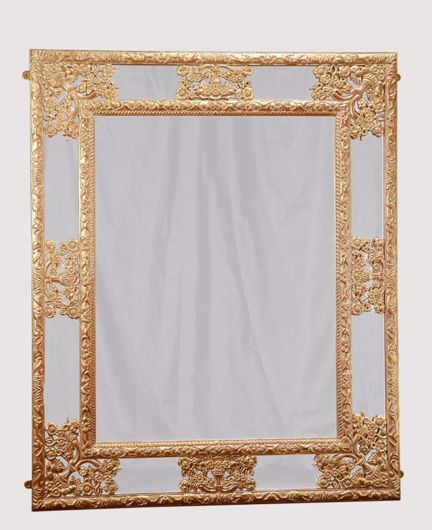 Picture of FLEMISH STYLE CARVED AND GILDED MIRROR