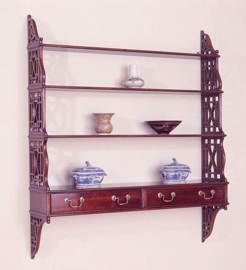 Picture of CHIPPENDALE STYLE MAHOGANY HANGING SHELF