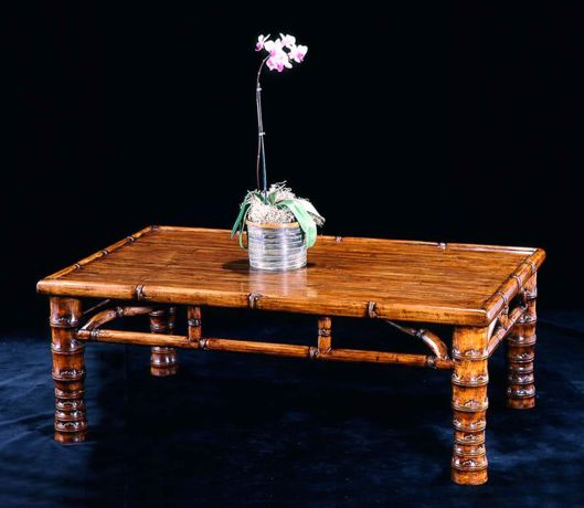 Picture of CHINESE MING STYLE MAPLE AND BAMBOO LOW TABLE