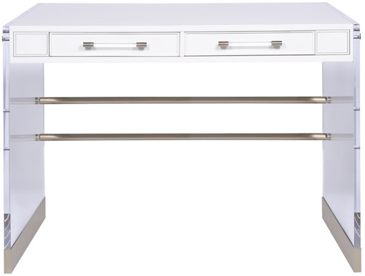 Picture of BRYSON DESK WITH ACRYLIC & METAL LEG