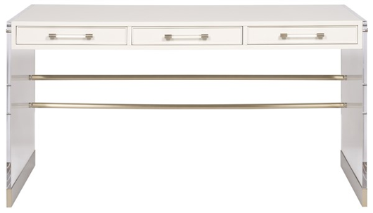 Picture of BERKLEY DESK WITH ACRYLIC & METAL BASE