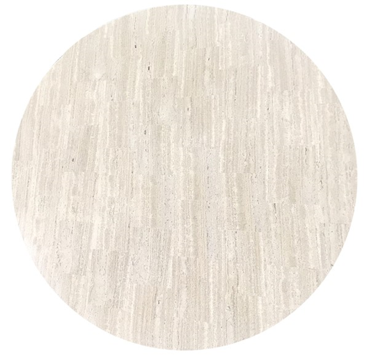 "Picture of  WHITE TRAVERTINE 48"" ROUND WHITE TRAVERTINE TOP, 48"" ROUND"