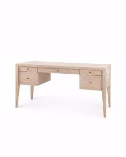 Picture of 5-DRAWER-DESK-BLEACHED-CERUSED-OAK-PAOLA