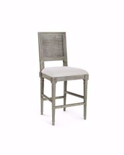 Picture of CERUSED-OAK-CANE-ANNETTE-COUNTER-STOOL