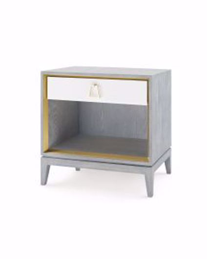 Picture of CAMERON-1-DRAWER-SIDE-TABLE-GRAY