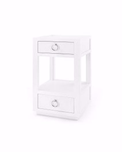 Picture of CAMILLA 2 DRAWER SIDE TABLE WHITE