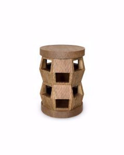 Picture of ZANZIBAR STOOL SIDE TABLE DRIFTWOOD