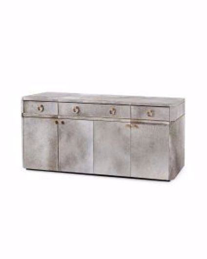 Picture of ANDRE-3-DRAWER-&-4-DOOR-CABINET-GRAY