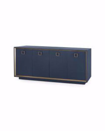 Picture of ANSEL-4-DOOR-CABINET-NAVY-BLUE
