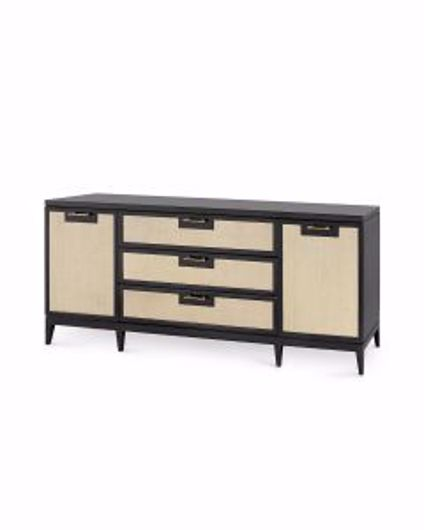 Picture of ASTOR-3-DRAWER-&-2-DOOR-CABINET-BLACK
