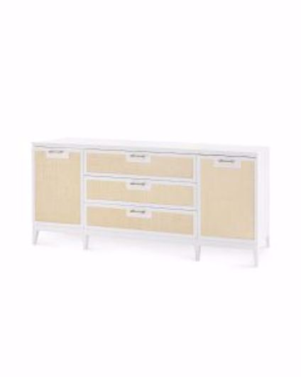 Picture of ASTOR-3-DRAWER-&-2-DOOR-CABINET-WHITE