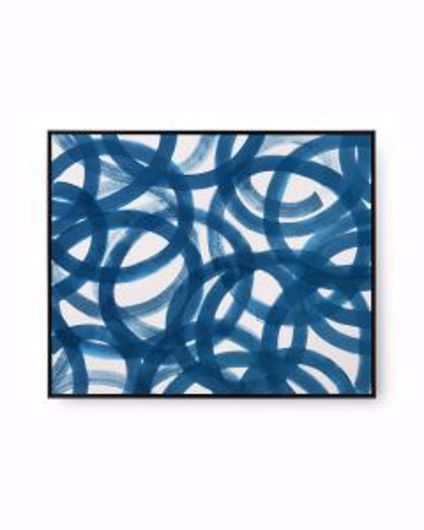 Picture of CIRCE FRAMED SILK PANEL NAVY BLUE