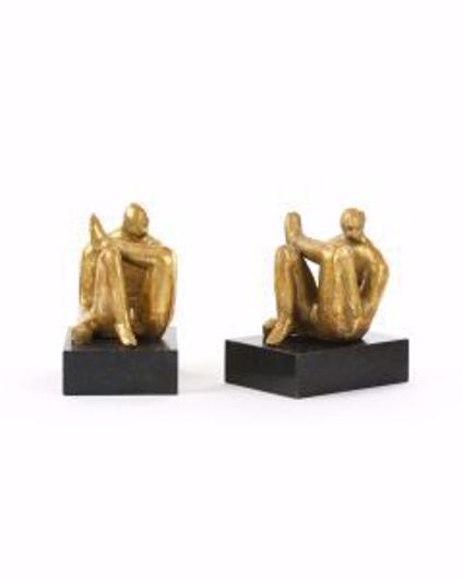 Picture of AMADEO SITTING STATUE GOLD