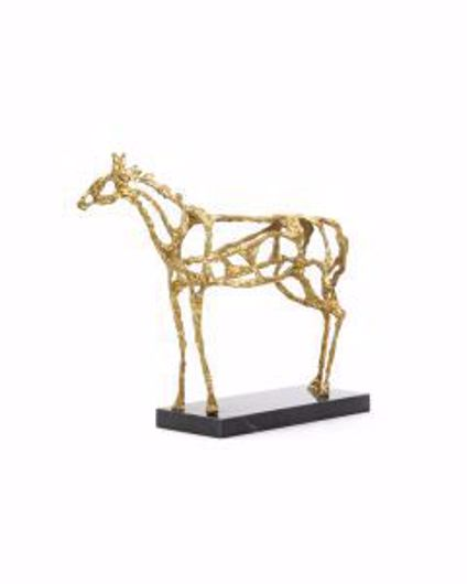 Picture of ARABIAN HORSE STATUE GOLD